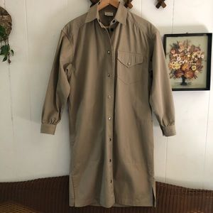 Vintage Canvas Trench Dress